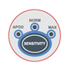 Rad-87 sensitivity button